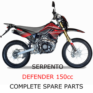 Serpento Dirt Bike Defender150cc Pieza Piezas completas
